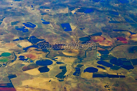 aerial view of farmland south africa