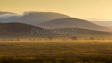 africa tanzania colorful sunrise highlights the