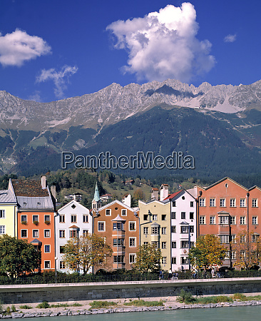 europe austria innsbruck colorful homes line
