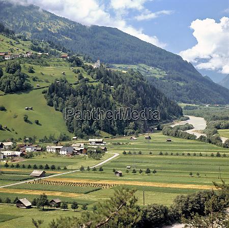 europe austria inn river valley neat