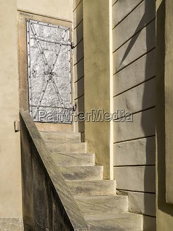 czech republic prague metal door on