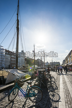 nyhavn 17th century waterfront copenhagen denmark