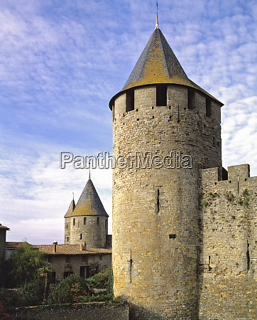 europe france carcassonne the towers of