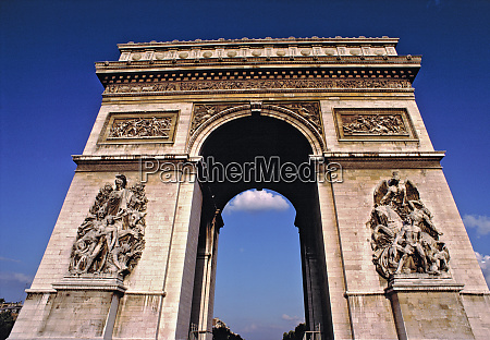 europe france paris the arc dtriomphe