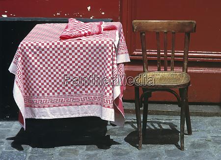 europe france paris a sidewalk table
