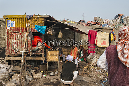 a shed in the slum dhaka