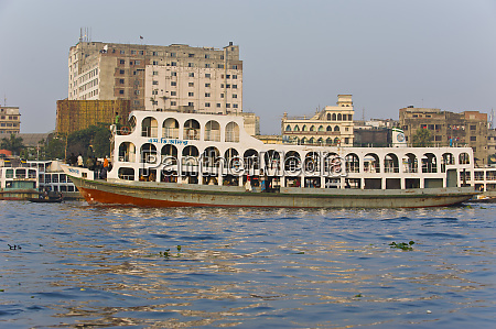 giant ferry in the port dhaka