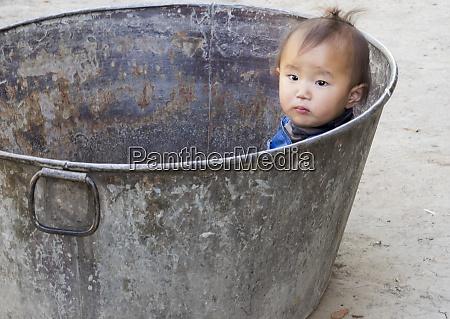 asia bhutan punakha valley young child