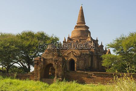 myanmar bagan small brick temple