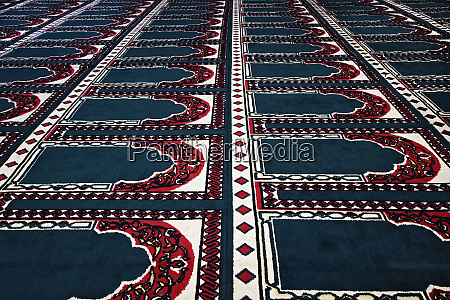 pattern created by prayer rugs in