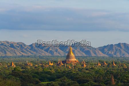 pagoda under renovation bagan mandalay region