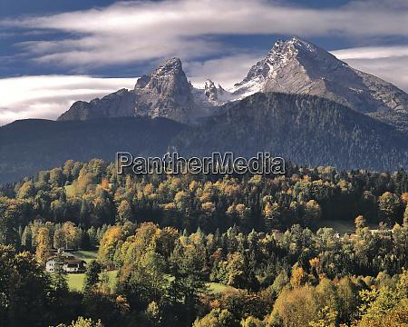germany bavaria ramsau the watzmann mountains
