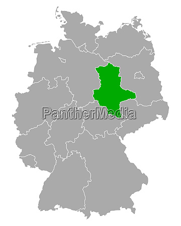 map of saxony anhalt in germany