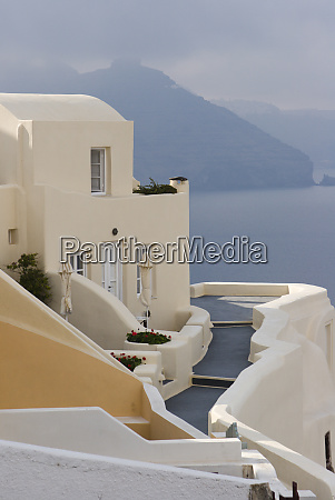 greece santorini thira oia pathway to