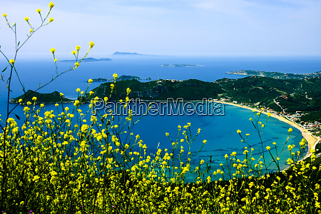 corfu greece aerial view of a