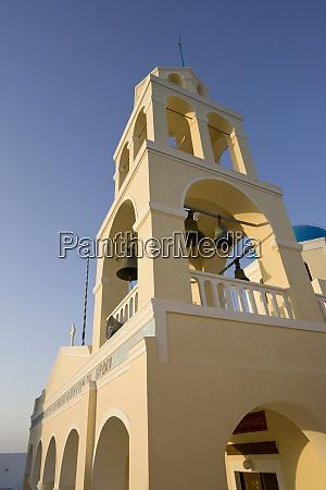 greece, , santorini, , thira, , oia., yellow, facade - 27756906