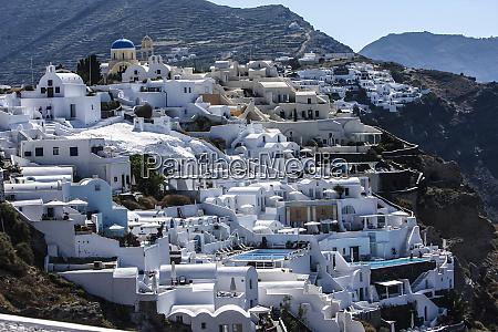 oia island of santorini greece village