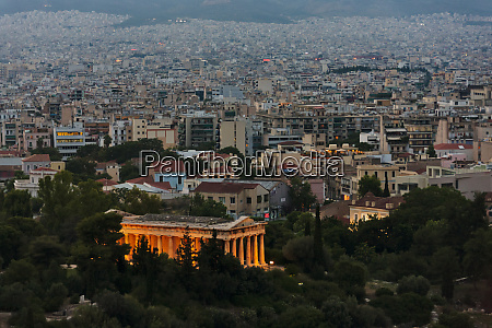 cityscape of athens greece