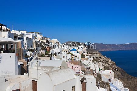 houses on the coast of aegean