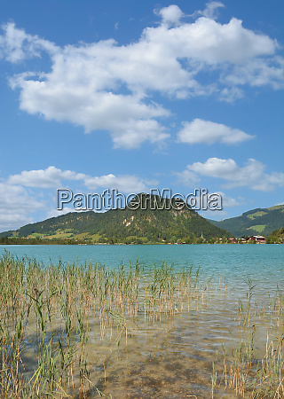 lake walchsee in tirol austria
