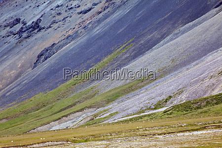 pattern on volcanic mountain slope iceland