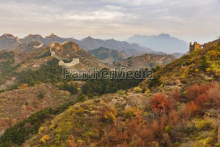 jinshanling mountains at sunrise in autumn