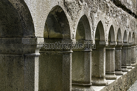 ireland galway stone arches and columns