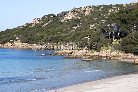 italy sardinia costa smeralda beach on