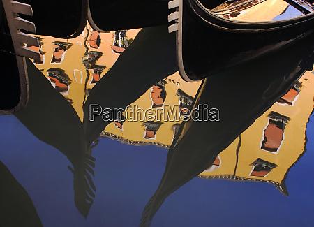 italy venice abstract of gondolas on