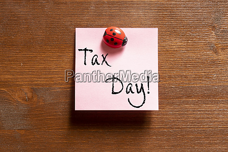 the phrase tax day