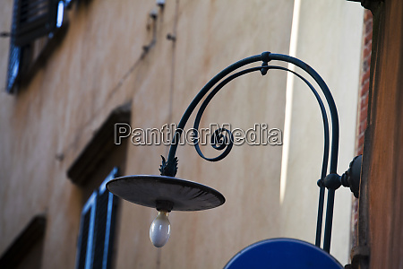 old street light of lucca