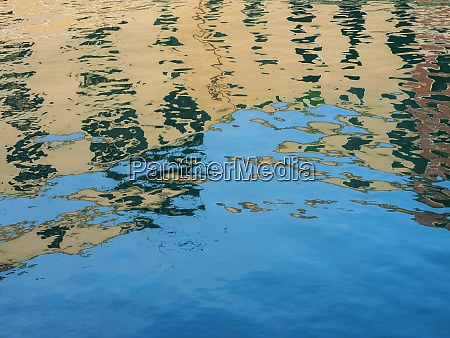 italy venice canal reflections