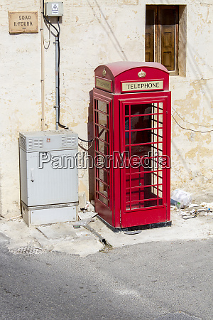 traditional english phone booth gozo island