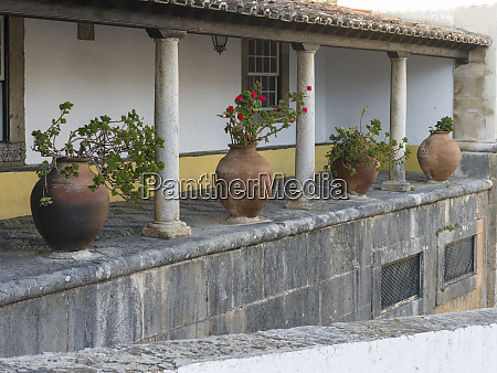historic small town obidos with a
