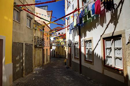 portugal lisbon colorful alfama neighborhood