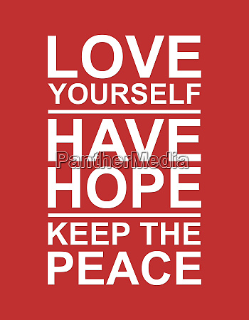 love hope and peace
