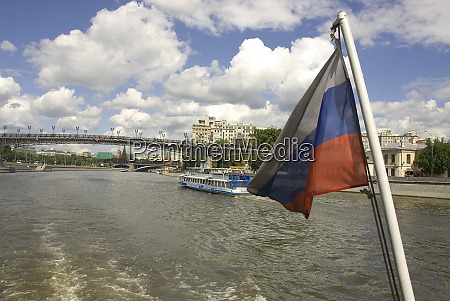 russia moscow russian flag and the