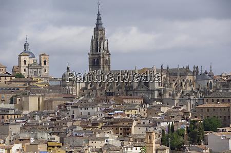 spain, , castilla-la, mancha, toledo., overviews, of, historic - 27764736