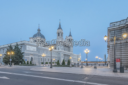 spain madrid almudena cathedral at dawn