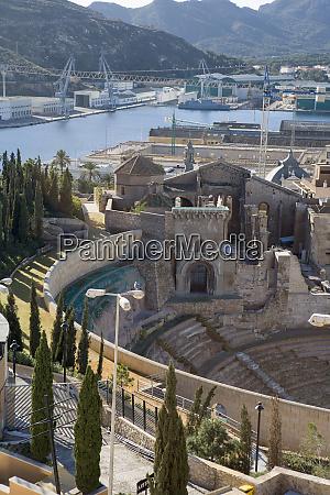 roman amphitheater cartagena spain