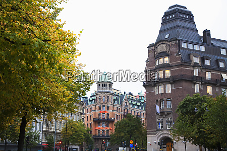 stockholm sweden low angle view