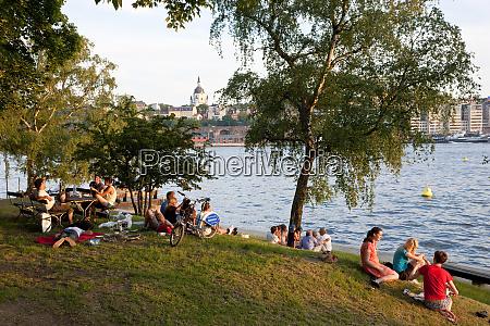 young people having picnics and enjoying