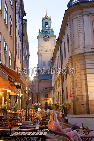 cafes stortorget square in gamla stan