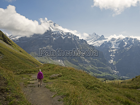 switzerland bern canton hiking trail from