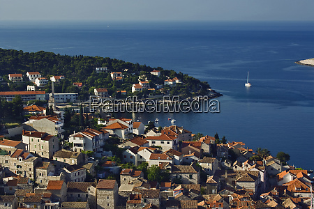 view of the harbor and adriatic