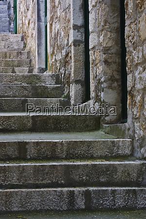 old stairway hvar island croatia