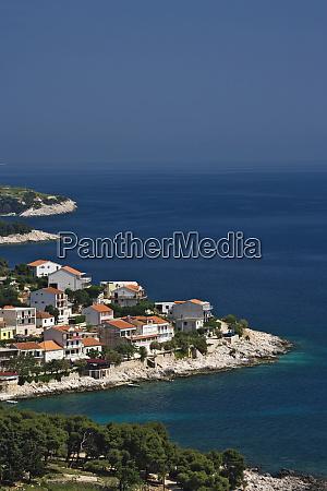 beautiful coastline of hvar island and
