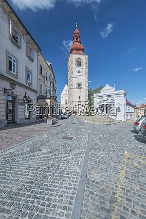 slovenia ptuj city tower and ptuj