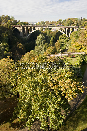 luxembourg city ponte adolphe bridge
