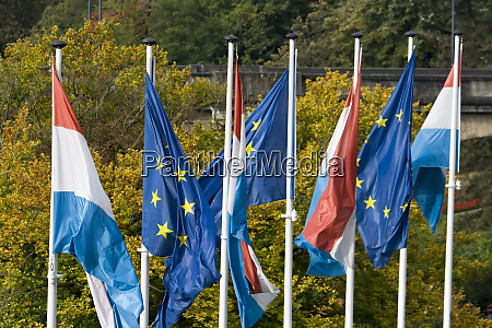 luxembourg luxembourg city flags